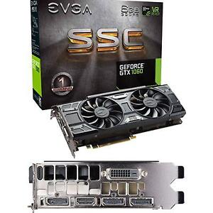 EVGA GeForce GTX 1060 SSC (6GB GDDR5 Graphics Card)