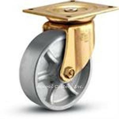 8es1-2 Bassick Es Swivel Plate Caster 8 X 2 Steel Wheel 1500 Lbs Capacity