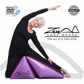 Purple Yoga Training Wedge and Exercise Beginners DVD ZEN YOGA