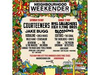 4 X Neighbourhood Weekender tickets Saturday 26th May