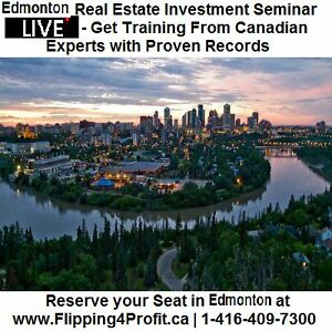 Edmonton Fortunes in Flipping Canadian real estate seminar LIVE Edmonton Edmonton Area image 1