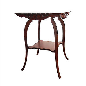 Antique oak parlour table