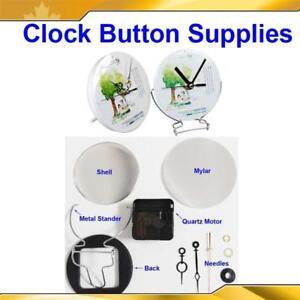 "4"" 4-5/16"" 100/110mm/158mm Clock Plastic/Metal Stander Button Supplies"