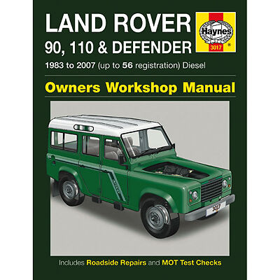 New Haynes Manual Land Rover 90 110 & Defender Diesel 83-07 Workshop Repair 3017