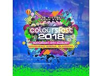 Coloursfest 2018 tickets no booking fees and free delivery
