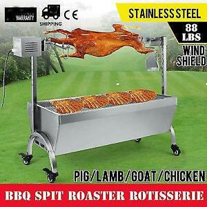 42'' Large Stainless Steel BBQ,Pig,Lamb,Goat,Chicken Spit Roaster,Rotisserie - FREE SHIPPING