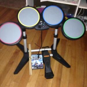 Ps2 Drum Set with Rock band 2 Game