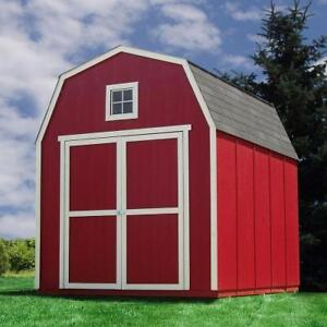 Remise Montana 8 ft. x 10 ft. Wood Shed Kit with Floor Frame