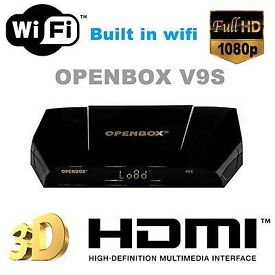 ✮INCLUDES BUILT IN WIFI ✮LATEST 2017 OPENBOX V9S NEW MODEL 12 MONTHS ALL CHANNELS -ONLY £80-