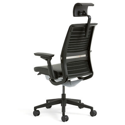 steelcase think office chair with headrest in great. Black Bedroom Furniture Sets. Home Design Ideas