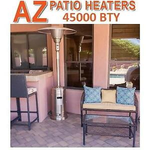 NEW* HILAND GAS PATIO HEATER GS-2650-SS 243188962 45000 BTU STAINLESS STEEL PROPANE COMMERCIAL