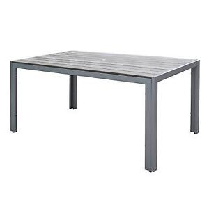 CorLiving PJR-572-T Gallant Outdoor Dining Table, Sun Bleached Grey (new other)