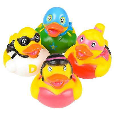 Rhode Island Novelty - Rubber Ducks - SUPER HERO DUCKIES (Set of 4 Styles) - New (Superhero Rubber Ducks)