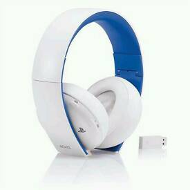 White sony ps4 headset