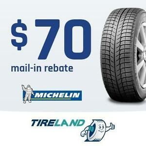 $70 Mail-in rebate with the purchase of 4 selected Michelin tires