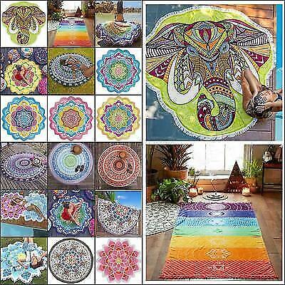 Boho Tapestry Beach Throw Towel Mandala Round Indian Hippie