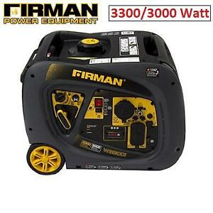 NEW FIRMAN INVERTER GENERATOR WO3081 232294120 GAS POWERED 3300/3000 WATT EXTENDED RUN TIME WHISPER SERIES