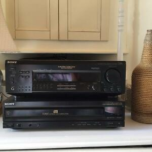 Sony FM/AM Stereo Receiver + Sony 5 disc CD player