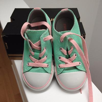 Brand New Mint Green/Pink Converse Sneakers - Size 8T