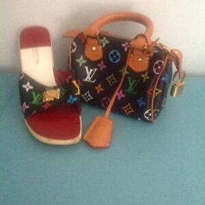 LV purse and shoes to match