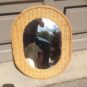 Wicker mirror Cambridge Kitchener Area image 1