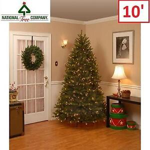 NEW 10' DUNHILL CHRISTMAS TREE DUH-100LO-S 212555633 National Tree Company Pre-Lit Fir Hinged Artificial w/ Clear Lights