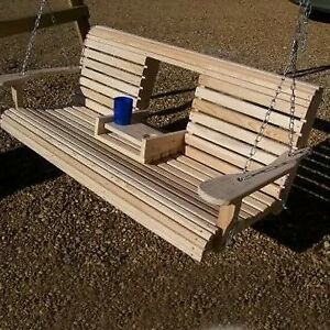 porch swing with fold out table