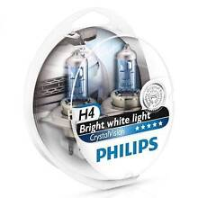 GENUINE NEW PHILIPS CRYSTAL VISION HEADLIGHT GLOBES BULBS HID St Clair Penrith Area Preview