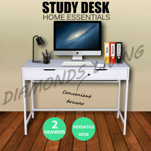 Study Desk Student Office Computer 2 Drawers Steel frame White Melbourne CBD Melbourne City Preview