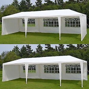 10'x30' White Wedding Party Tent Outdoor Event Camping Gazebo