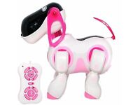 REMOTE CONTROL OPERATED I - DOG ROBOT - Walking Nodding Toy Pet Puppy Electronic Light - BRAND NEW