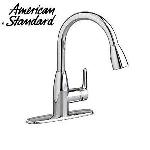 OB AMERICAN STANDARD COLINY FAUCET 4175300F15.002 226087145 SOFT PULL DOWN KITCHEN AERATOR POLISHED CHROME OPEN BOX