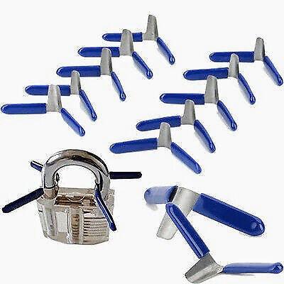 10x Padlock Shim Set Lock Opener Unlock Accessories Tool Kit Without Lock Blue