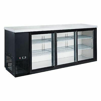 Coldline Ubb-24-72g-y-hc 72 Black Sliding Glass Door Back Bar Cooler