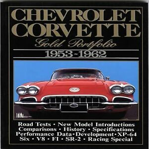 Chevrolet-Corvette-Gold-Portfolio-1953-1962-by-R-M-Clarke-1990-Paperback