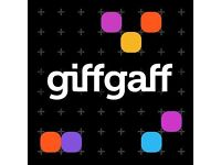 Giffgaff pay as you talk SIM cards x10 each with £5 credit ideal for Iphone Samsung Nokia Sony HTC