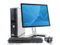 woow WINDOWS 7 FULL DELL COMPUTER DESKTOP TOWER SET PC 4GB RAM 160GB HDD WIFI BARGAIN