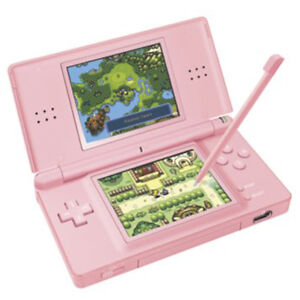 Nintendo DS Lite - Pink - with games and chargers