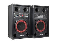 """DJ Disco Active Speakers with USB, SD, Mic inputs and 8"""" Bass Woofer"""