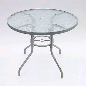 Two Large Glass Garden Tables