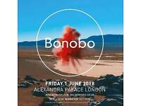 3x Standing Tickets to Bonobo at Alexandra Palace Friday 1st June
