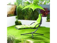 Adult full-size helicopter swinging relaxing garden chair