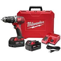 """NEW- Milwaukee M18 Compact 1/2"""" Hammer Drill/Driver $335 Value N"""