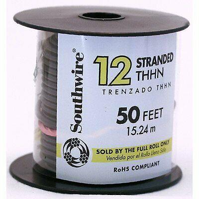 50 12 Ga. Stranded Thermoplastic Heat Resistant Nylon Jacket Thhn Wire Black