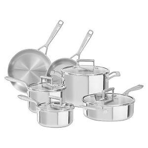 KitchenAid 10 piece stainless cookware/ Batterie de cuisine