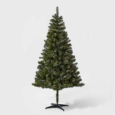 6ft Pre-lit Artificial Christmas Tree Alberta Spruce Multicolored Lights - Wonde