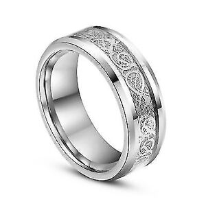 Silver Celtic Dragon ring, new in gift box