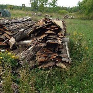 dry pine slab wood for firewood kindling or camp fires