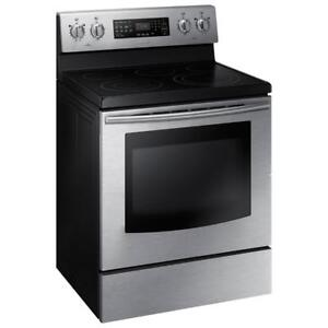 SAMSUNG NE59J3421SS Electric Range with Fan Convection 5.9 cu.ft Share Fan Convection 5.9 cu.ft Large Capacity 5 Burners