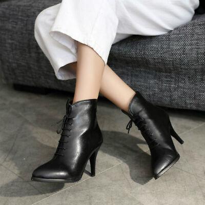 Formal Black Heel Ankle Boots